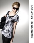 close up fashion model wearing... | Shutterstock . vector #56924104