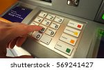 atm machine and close up man... | Shutterstock . vector #569241427