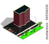 isometric elements. 3d building ...   Shutterstock .eps vector #569246233