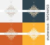 vintage frame for luxury logos  ... | Shutterstock .eps vector #569246923