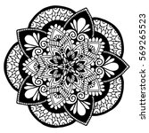 mandalas for coloring book.... | Shutterstock .eps vector #569265523