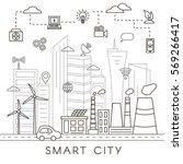 smart city vector concept....   Shutterstock .eps vector #569266417