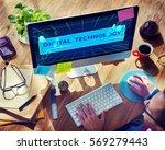 computer system innovation... | Shutterstock . vector #569279443