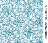 hand drawn pattern with... | Shutterstock .eps vector #569288047