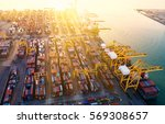 container container ship in... | Shutterstock . vector #569308657