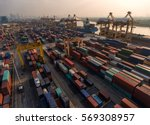 container container ship in... | Shutterstock . vector #569308957