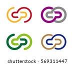 design round wheel logo element.... | Shutterstock .eps vector #569311447