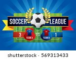 vector of soccer league with...   Shutterstock .eps vector #569313433