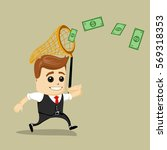 businessman catching money with ...   Shutterstock .eps vector #569318353