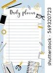 daily planner template.... | Shutterstock .eps vector #569320723