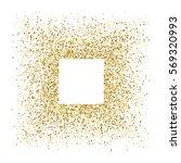 gold frame glitter texture... | Shutterstock .eps vector #569320993
