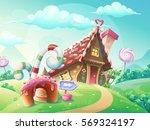 illustration of sweet house of... | Shutterstock .eps vector #569324197