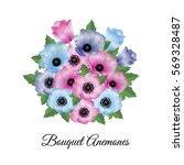 vector illustration. floral... | Shutterstock .eps vector #569328487