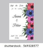 vector illustration. floral... | Shutterstock .eps vector #569328577