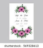 vector illustration. floral... | Shutterstock .eps vector #569328613