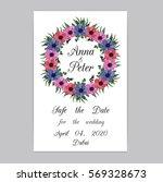 vector illustration. floral... | Shutterstock .eps vector #569328673