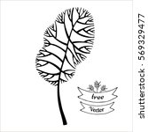 tree vector black silhouette... | Shutterstock .eps vector #569329477