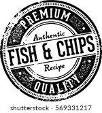 vintage fish   chips menu... | Shutterstock .eps vector #569331217