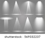 vector light sources  concert... | Shutterstock .eps vector #569332237