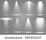 vector light sources  concert... | Shutterstock .eps vector #569332237