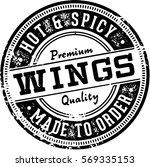 hot chicken wings menu design... | Shutterstock .eps vector #569335153