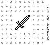 sword icon illustration... | Shutterstock .eps vector #569338153