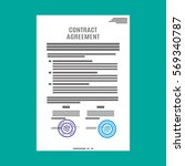 contract agreement paper blank... | Shutterstock .eps vector #569340787