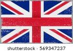 grunge uk flag.vector british... | Shutterstock .eps vector #569347237
