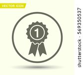 pictograph of award | Shutterstock .eps vector #569350537
