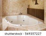 corner bathtub decoration in...   Shutterstock . vector #569357227