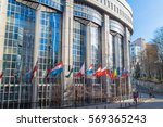 european parliament offices   Shutterstock . vector #569365243
