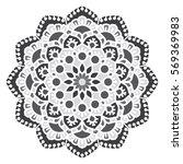 mandala. vector ethnic oriental ... | Shutterstock .eps vector #569369983