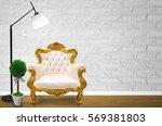 interior design with luxurious...   Shutterstock . vector #569381803