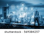 industry 4.0 concept  smart... | Shutterstock . vector #569384257