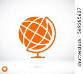 Globe Icon  Vector Best Flat...