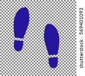 imprint soles shoes sign. blue...