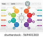 part of the report with logo... | Shutterstock .eps vector #569401303