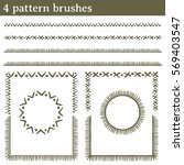 pattern brushes  lines. you can ... | Shutterstock .eps vector #569403547
