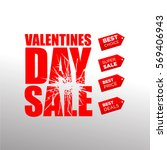 valentines day sale with price... | Shutterstock .eps vector #569406943