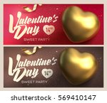 happy valentine's day banners.... | Shutterstock .eps vector #569410147
