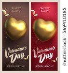 happy valentine's day banners.... | Shutterstock .eps vector #569410183