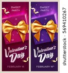 happy valentine's day banners.... | Shutterstock .eps vector #569410267