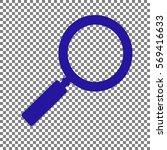 zoom sign illustration. blue... | Shutterstock .eps vector #569416633