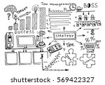 business doodles sketch set  ... | Shutterstock .eps vector #569422327