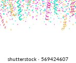 colorful confetti and... | Shutterstock .eps vector #569424607