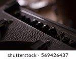 guitar amp in music room | Shutterstock . vector #569426437