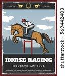 Colorful Equestrian Sport...
