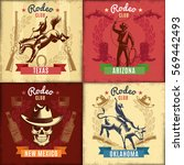 vintage wild west emblems with... | Shutterstock .eps vector #569442493