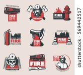 vintage fire protection logos...
