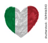 hand drawn heart with flag of... | Shutterstock . vector #569446543